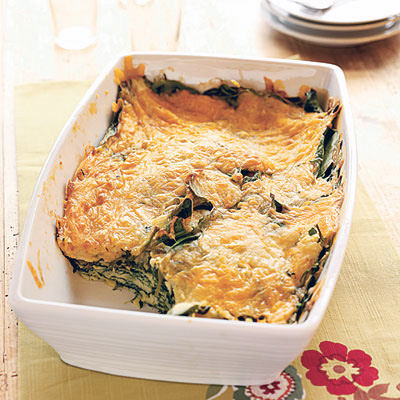 Cooking Light...Spinach Cheese Bake
