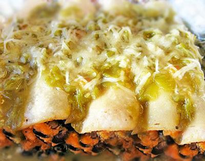 Gluten Free Goddess...Sweet Potato Black Bean Enchiladas