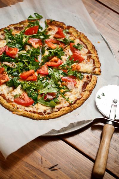 The Chubby Vegetarian...Gluten Free Cauliflower Pizza Crust