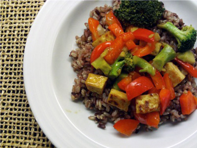 Wheat-Free Meat-Free...Asian Orange Tofu Stir Fry