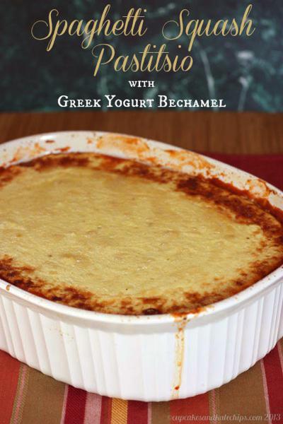 Cupcakes & Kale Chips...Spaghetti Squash Pastitsio with Greek Yogurt Bechamel