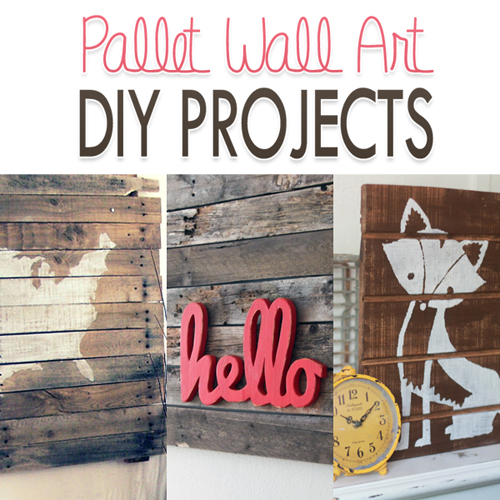These awesome DIY pallet wall art projects are great weekend projects to add new decoration to your home