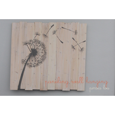 Persia Lou makes this pretty wishing dandelion pallet wall art piece