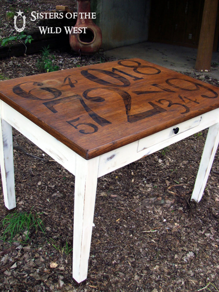 Sisters of the Wild West...Pottery Barn Inspired Library Table