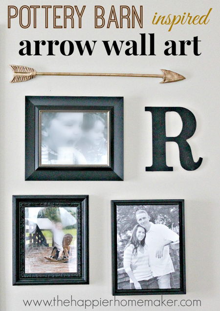 The Happier Homemaker...Pottery Barn Inspired Wall Arrow