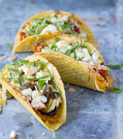 Oh Sweet Basil...Vegetarian Tacos with Spicy Crema