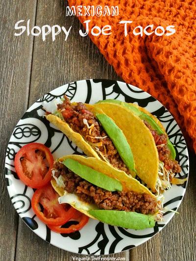 Vegan in the Freezer...Mexican Sloppy Joe Tacos