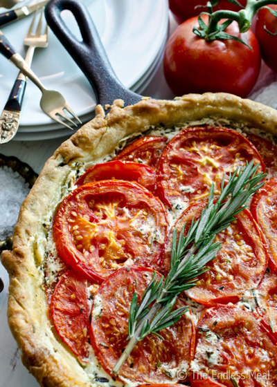The Endless Meal...Tomato and Goat Cheese Tart with Rosemary and Mascarpone