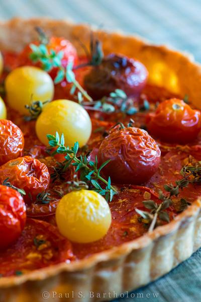 The Framed Table...Tomato Tart