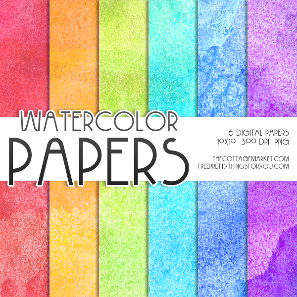Free Digital Watercolor Scrapbooking Paper