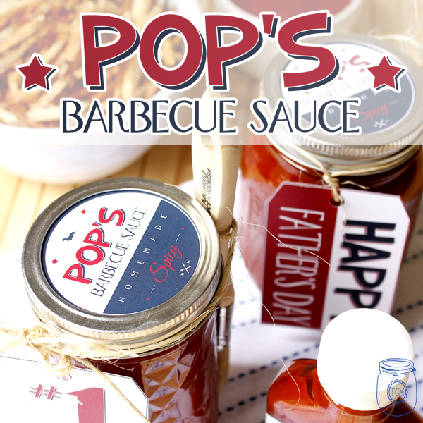 Spicy Barbeque Sauce Recipe Printable Father's Day Tags/Label