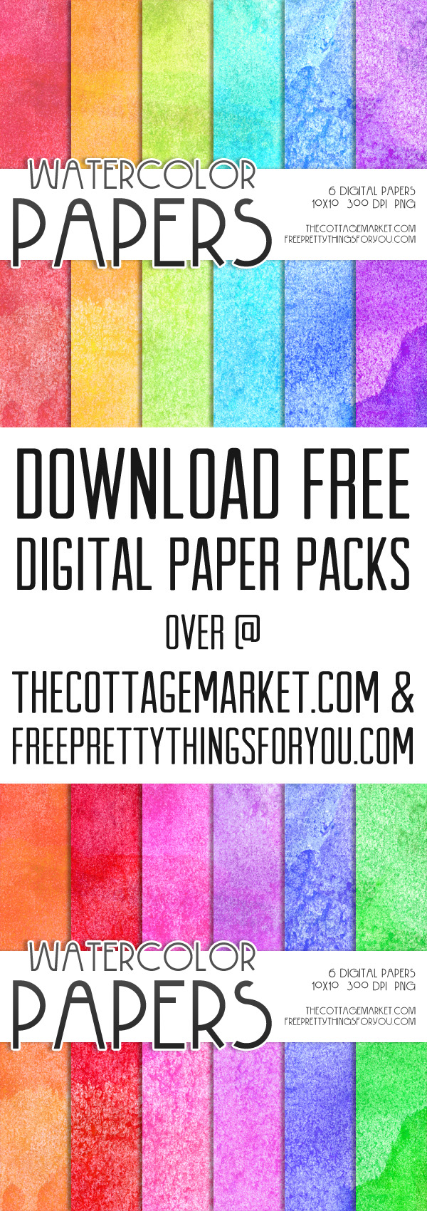 Free Download of Watercolor Scrapbooking Paper