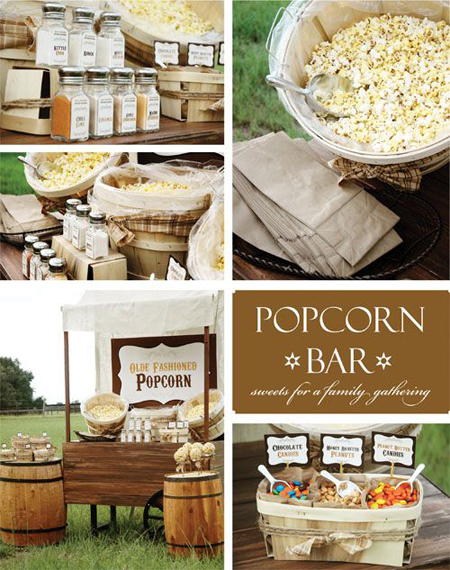 A popcorn bar would be the hottest place to hang out at a graduation party -- check out this idea from Zsa Zsa Bellagio