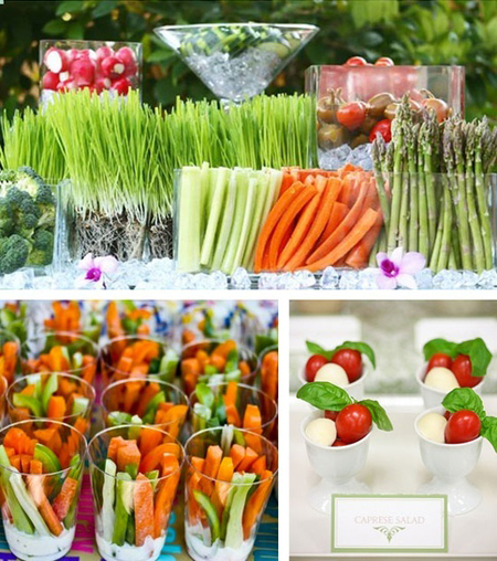 Forget a boring veggie tray - this veggie bar is a perfect graduation party idea