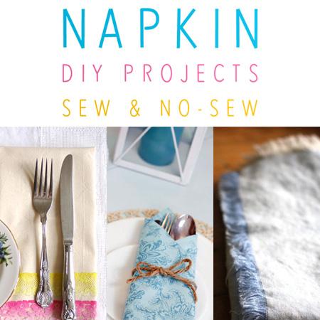 Cloth Napkin DIY Projects Sew & No Sew