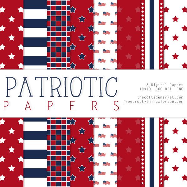 4th of July Decorations Patriotic Rounds Designer Resources Digital Scrapbooking Digital Embellishments Digital Designing Elements