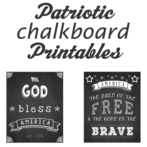 Free 4th of July Chalkboard Printables