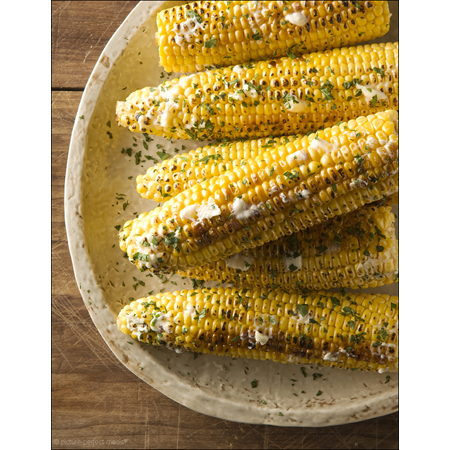Picture Perfect Meals...Grilled Corn on the Cob with Honey Butter