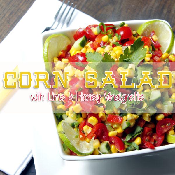 Corn Salad with Lime and Honey Vinaigrette