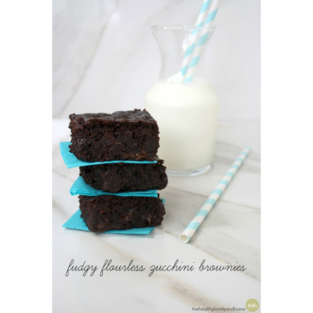 The Healthy Family and Home...Vegan Flourless Zucchini Brownies