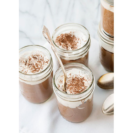 Baked Bree...Vegan Chocolate Pudding with Whipped Coconut Cream