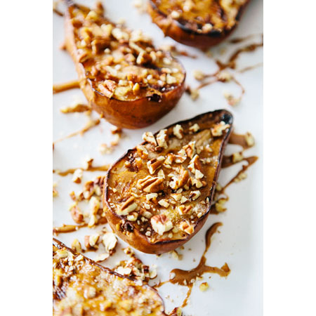 A House in the Hills...Grilled Pears with Cinnamon Drizzle