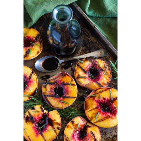 The Framed Table...Grilled Peaches with Rosemary Balsamic
