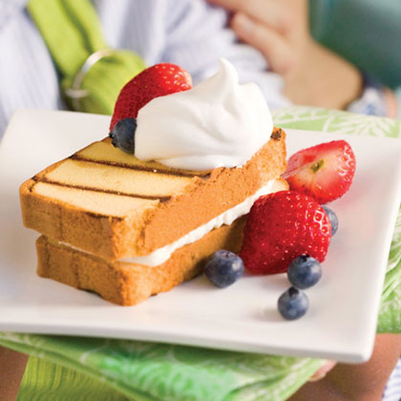 My Recipes...Cream Filled Grilled Pound Cake
