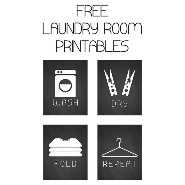 Use these free laundry printables to add decor to your space.
