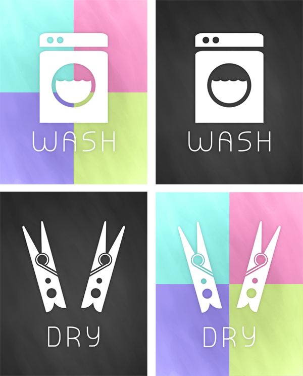 These wash and dry printables are perfect for any laundry room.