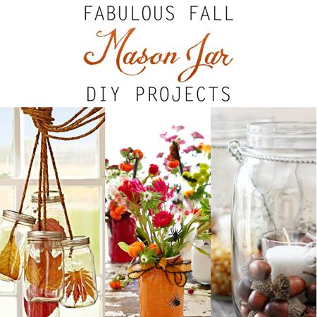 Fabulous Fall Mason Jar DIY Projects