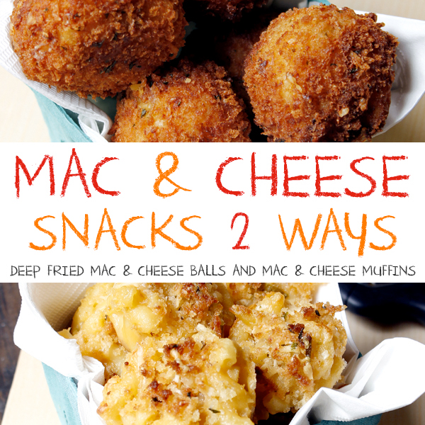 Mac and Cheese Snacks Two Ways