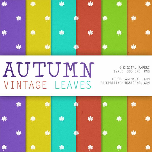 Free Autumn Digital Scrapbooking Paper Packs