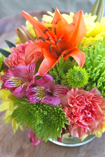 Arranging Grocery Store Flowers 2