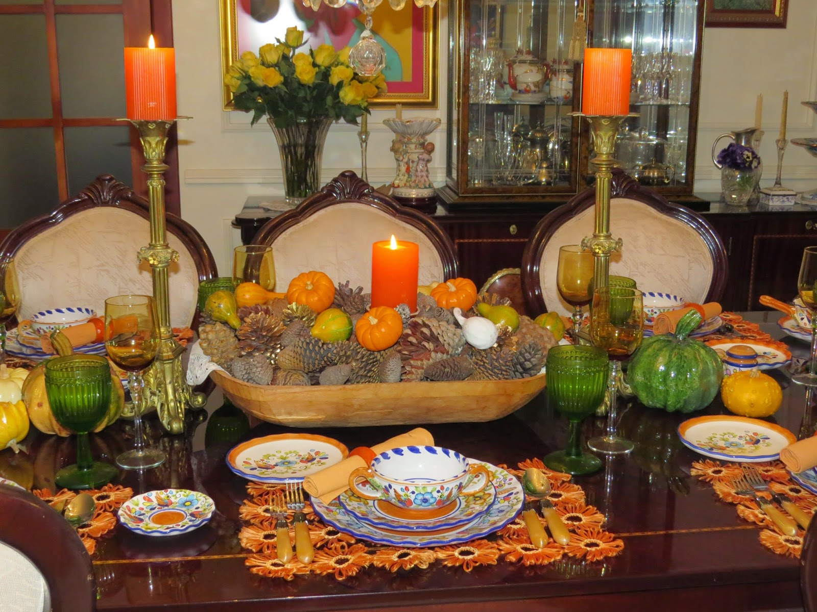 Autumn Dinner Party Setting 006