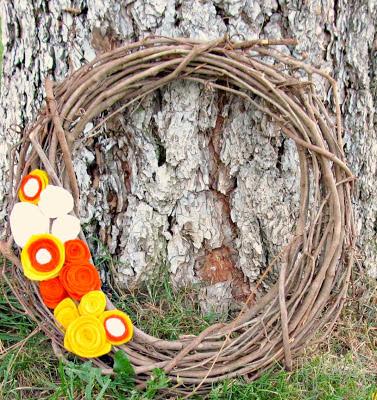 Candy Corn Wreath 1