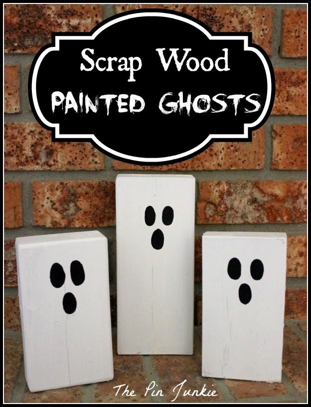 scrap wood painted ghosts 2