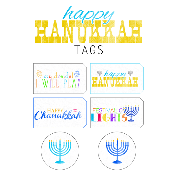 Free Printable Happy Hanukkah Gift Tags