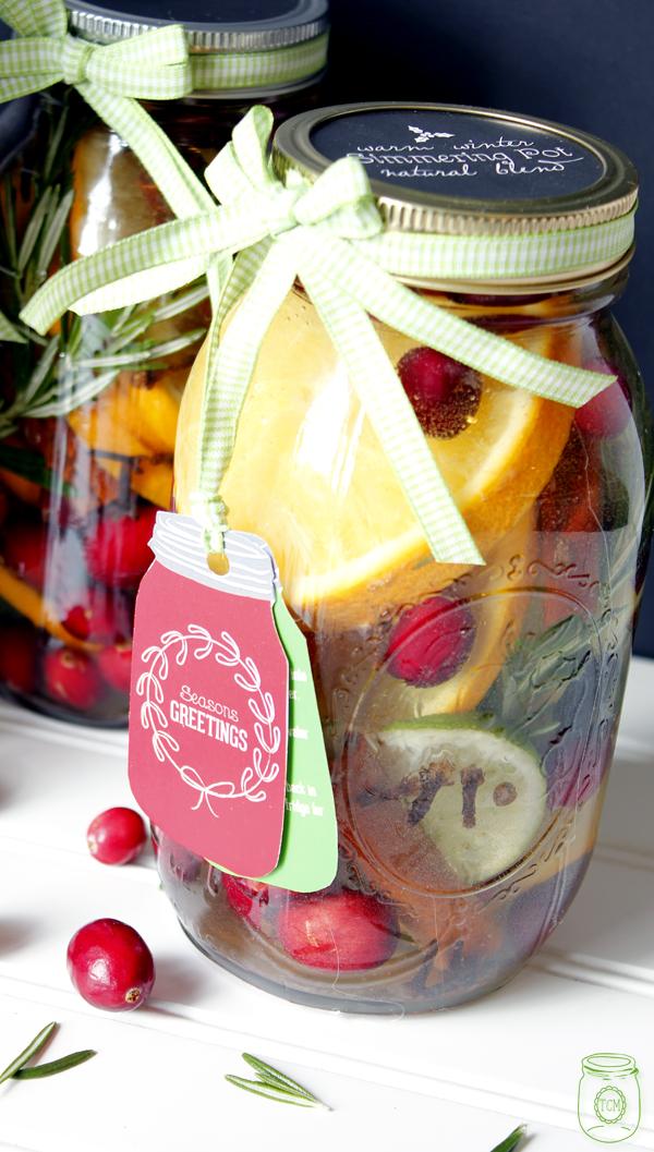 Simmering Pot Mason Jar | mason jar gift ideas
