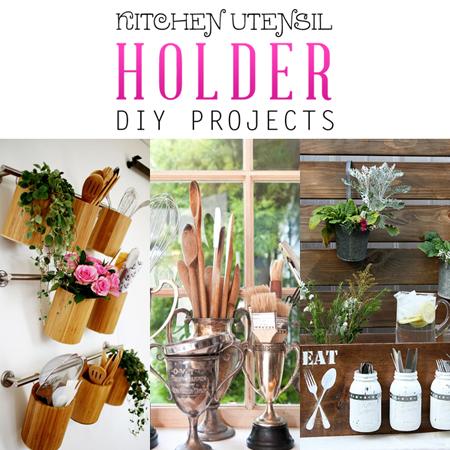 Kitchen Utensil Holder DIY Projects