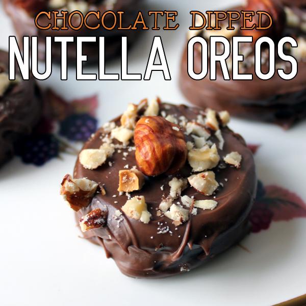 Chocolate Covered Nutella Oreos