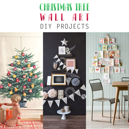 Christmas Tree Wall Art DIY Projects The Cottage Market