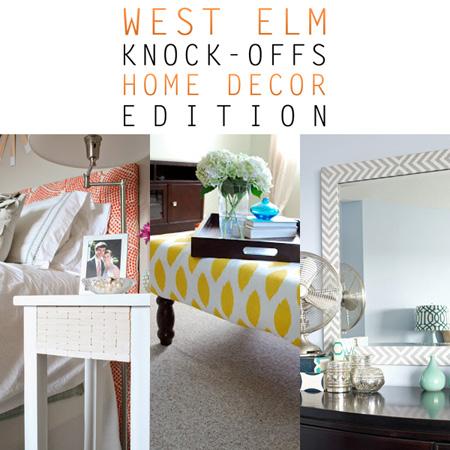 West Elm Knock-Offs Home Decor Edition