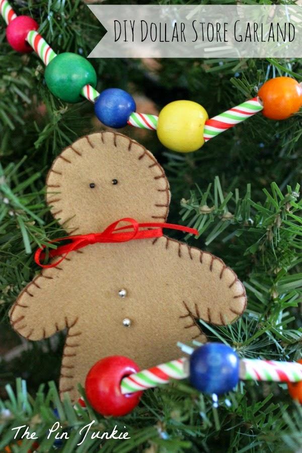 dollar store Christmas craft garland diy