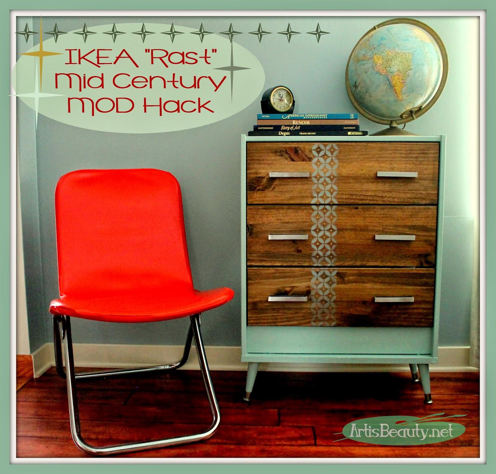 Ikea RAST mid century mod hack