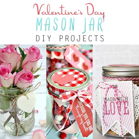 Valentine's Day Mason Jar DIY Projects