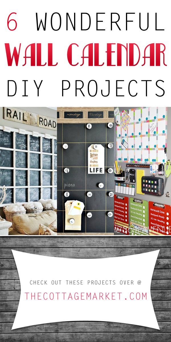 Try out these wall calendar projects that are totally DIY and unique.