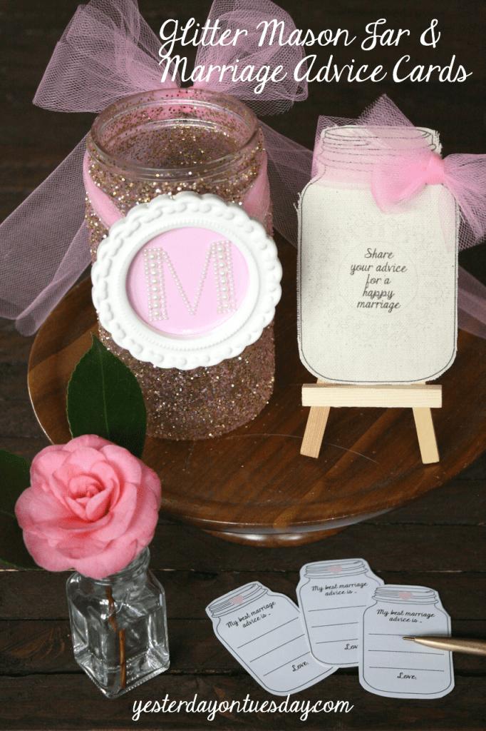 Glitter-Mason-Jar-and-Marriage-Advice-Cards-682x1024