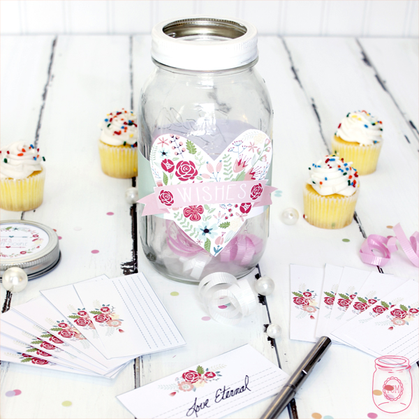 Wedding Wish Jar Diy With Free Printables The Cottage Market