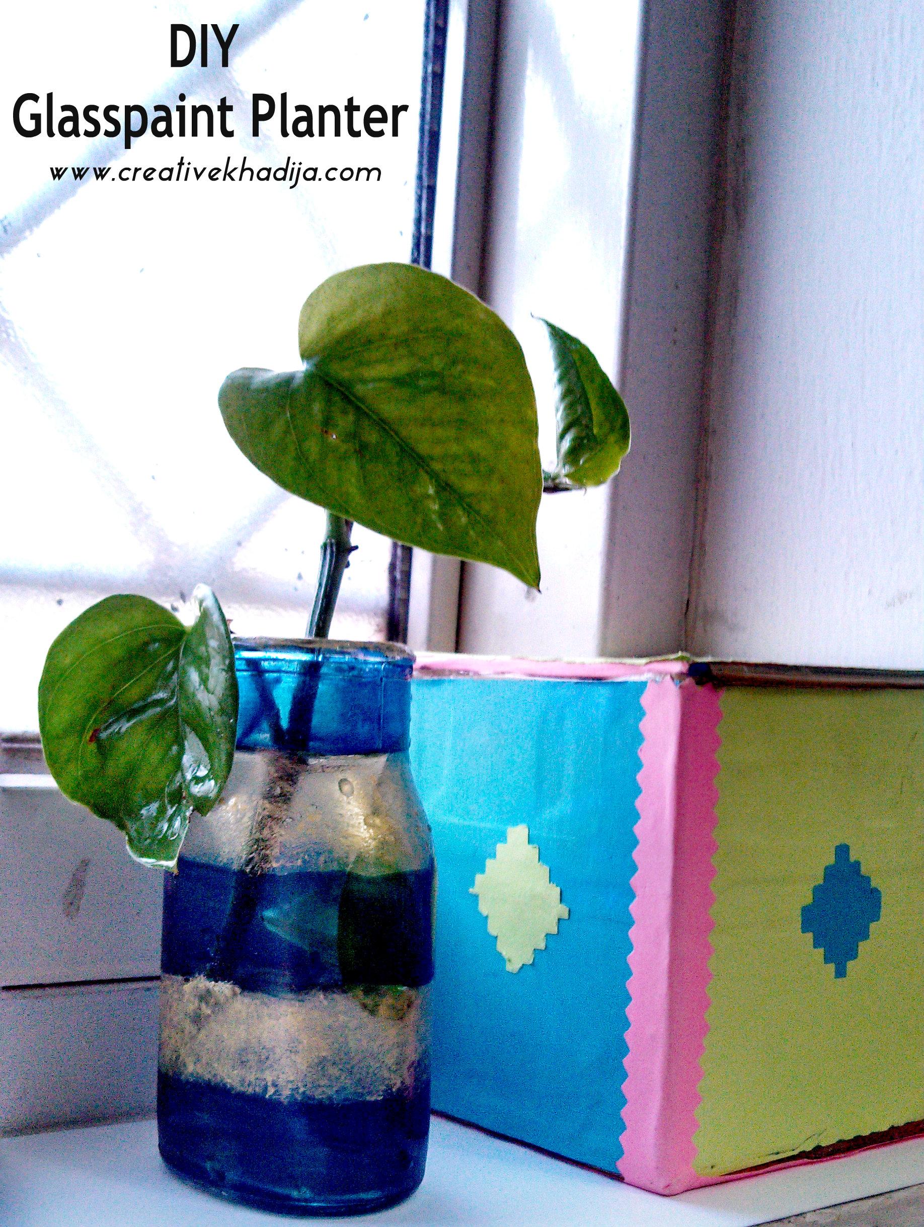 Plant-Container-Glass-Paint-planter-DIY-idea